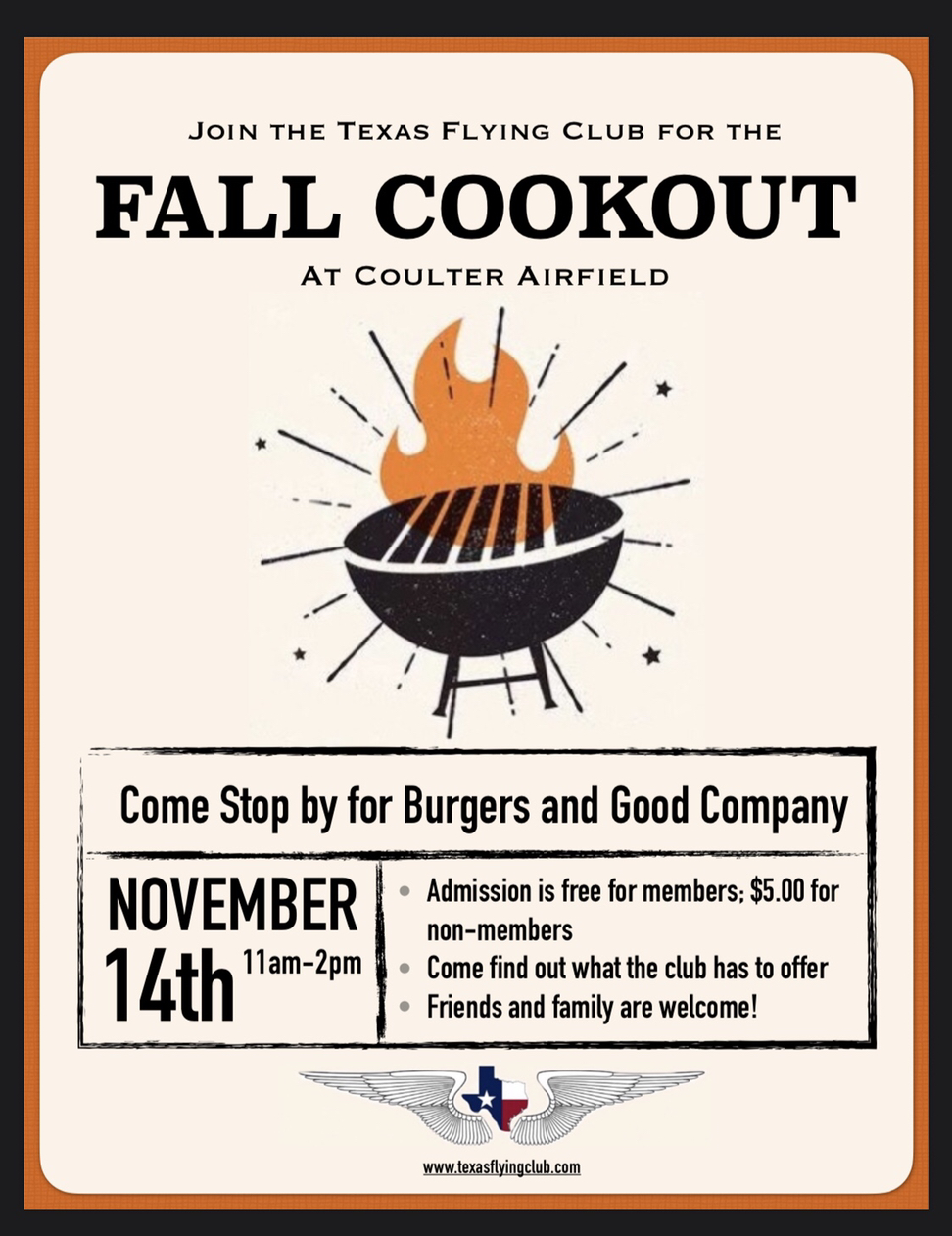 TFC Club Cookout November 14th!